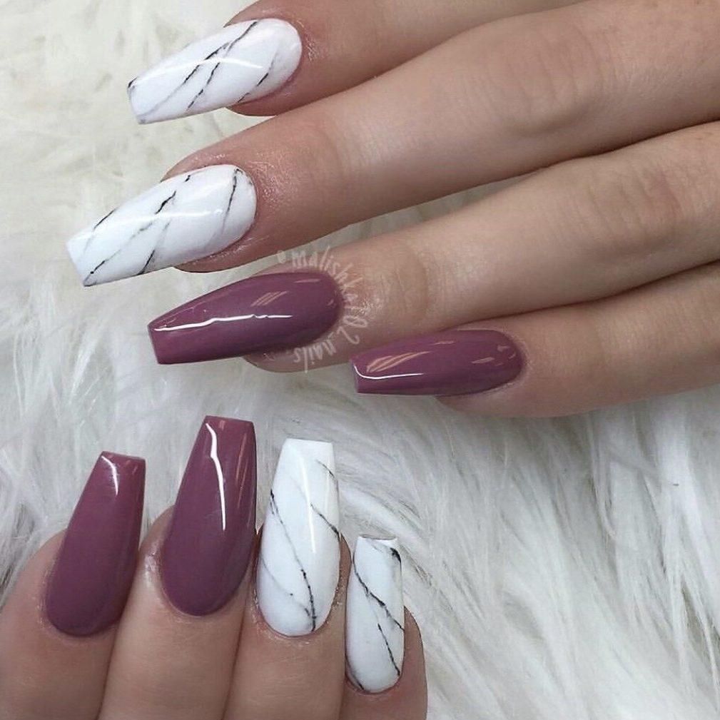 Coffin shape nail extensions