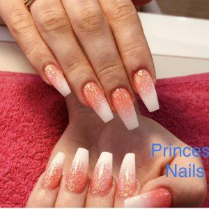 ombre sparkling nail set 140219