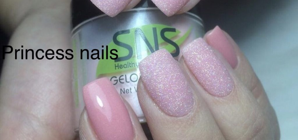SNS dipping powder nail design