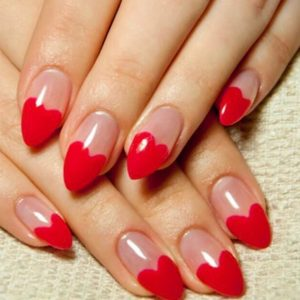 valentines day nails 140219