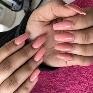 Nail Extensions Coffin Shape Light Pink Colour