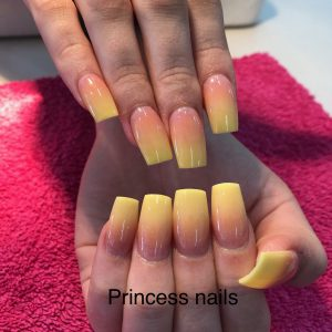 Ombre Yellow Nail Extensions